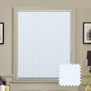 Light Blue Made to measure vertical blinds in Carnival Cloud plain FR / Antibacterial fabric